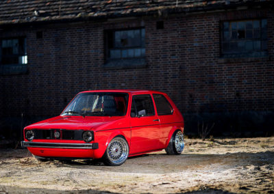 VW GOLF MK1 RED | JR9 | Chrome